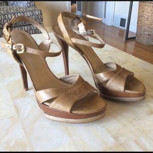 Stuart Weitzman Tan Leather Stiletto Heels
